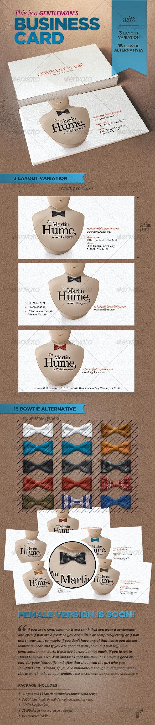 Gentleman's Business Card - Creative Business Cards