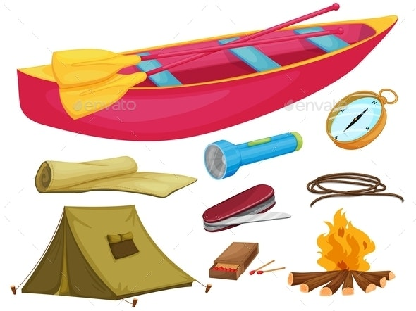 Various Camping Objects - Man-made Objects Objects