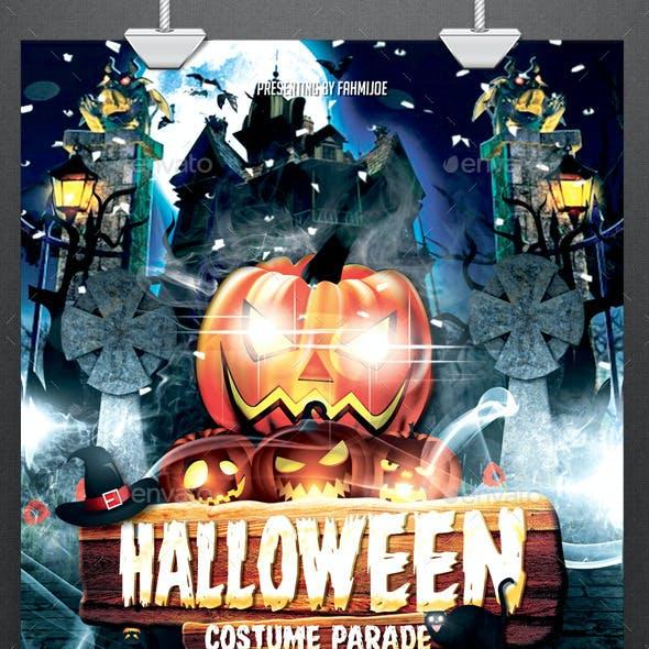 Halloween Flyer Costume Parade