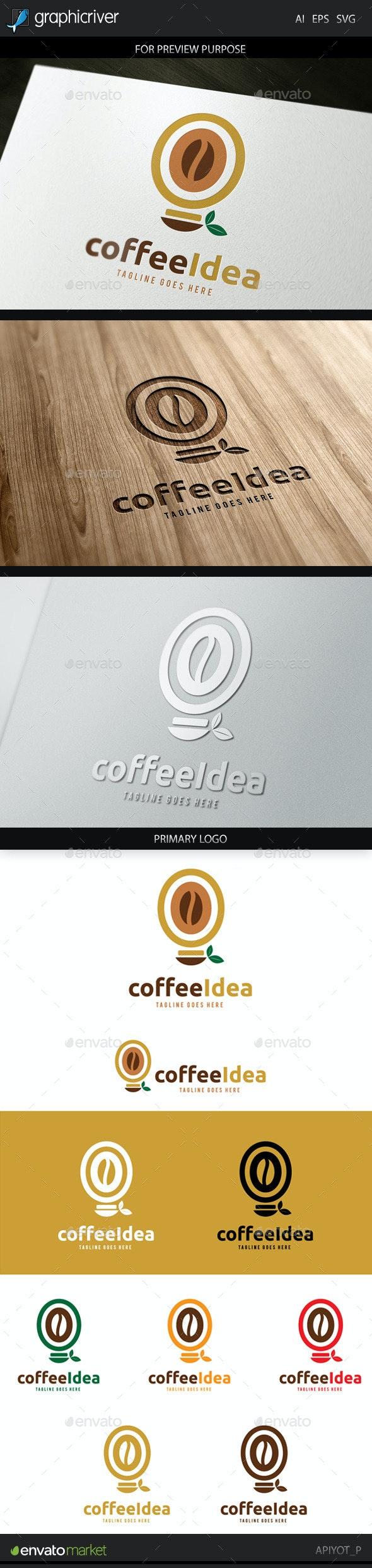 Coffee Idea Logo - Food Logo Templates