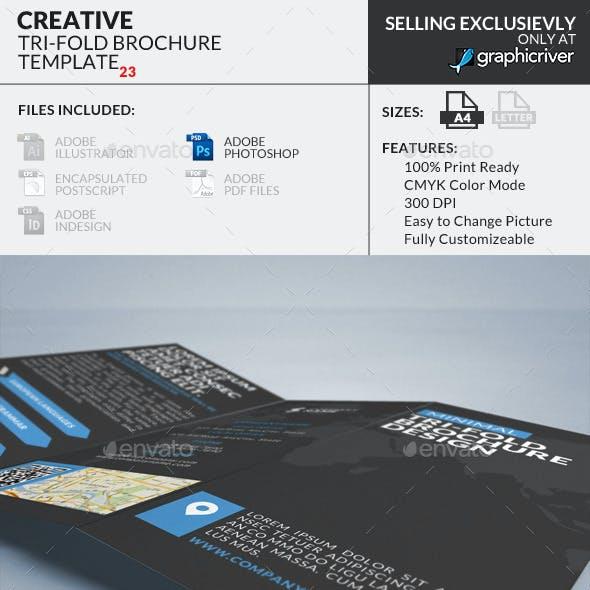 Trifold Brochure 24 : Minimal Creative