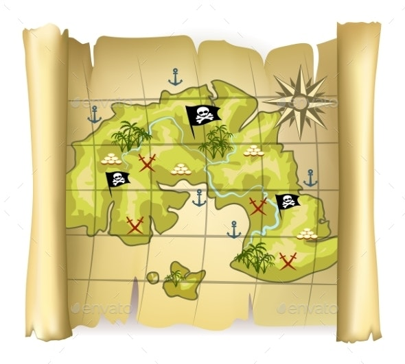 Pirate Map - Miscellaneous Vectors
