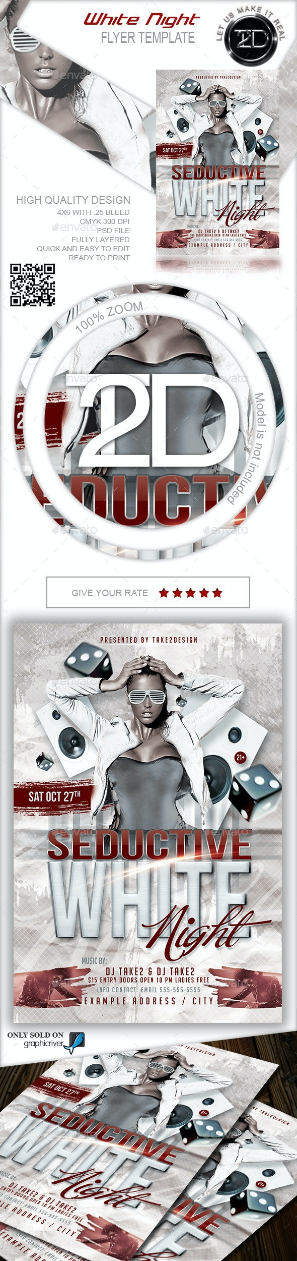 White Night Club Flyer - Clubs & Parties Events