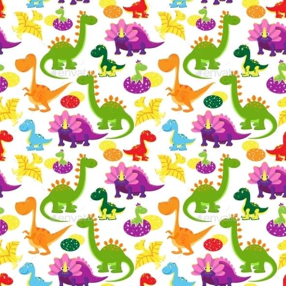 Baby Dinosaurs Pattern - Patterns Decorative