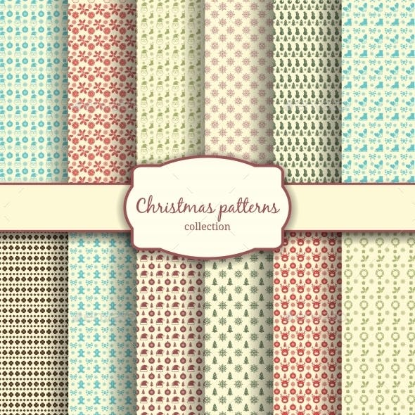 Assortment of Christmas Patterns with Label