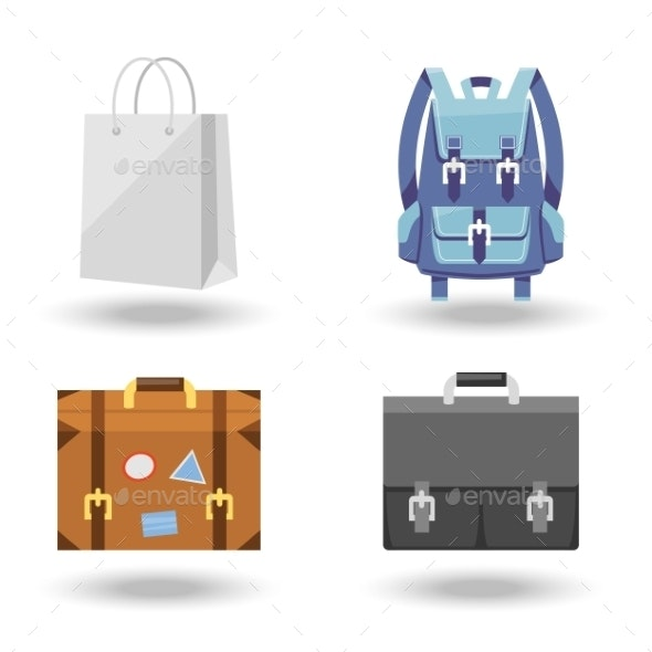 Set of Four Baggage Illustrations - Miscellaneous Vectors
