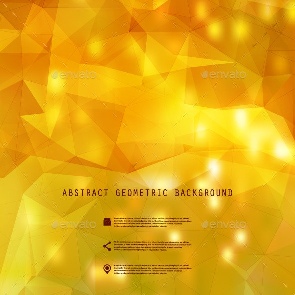 Polygonal Blurred Fall Background - Backgrounds Decorative