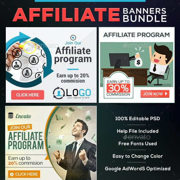 Affiliate Program Banners Bundle-3 Sets