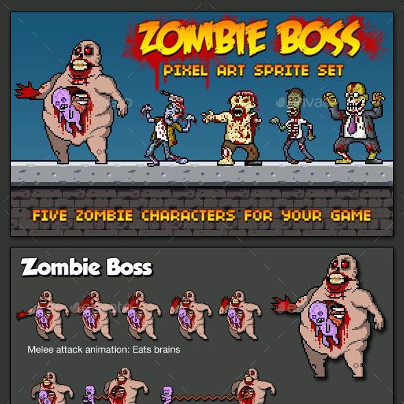 Zombie Boss - Pixel Art Sprite Set