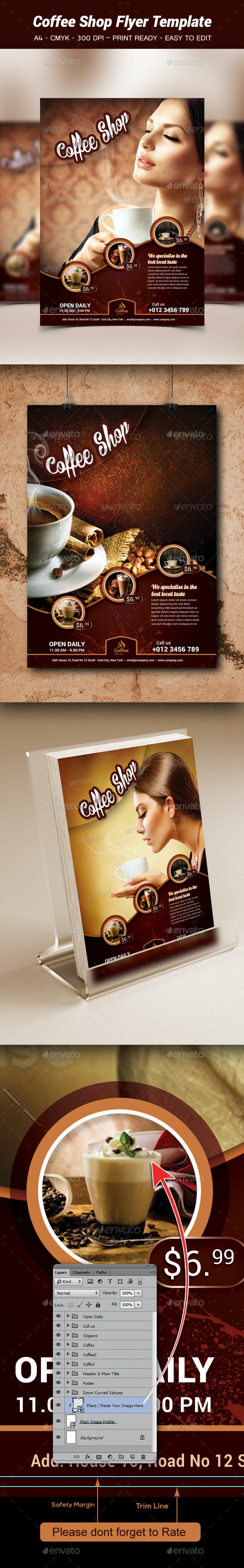 Coffe Shop Flyer Template - Flyers Print Templates