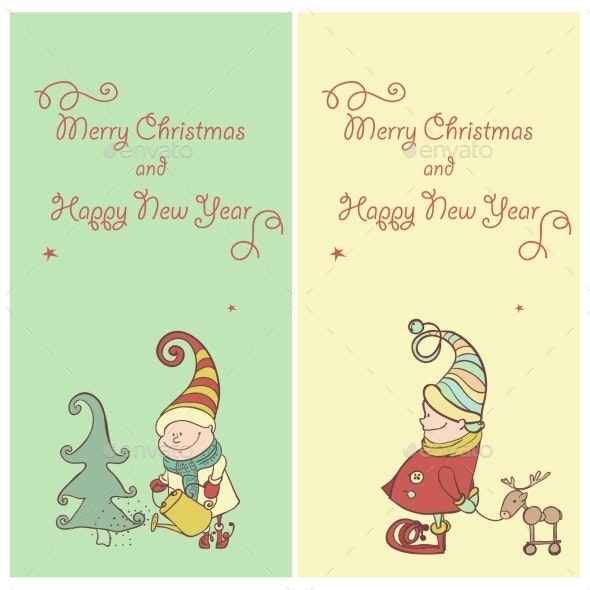 Vector Set of Christmas Gnome - Christmas Seasons/Holidays