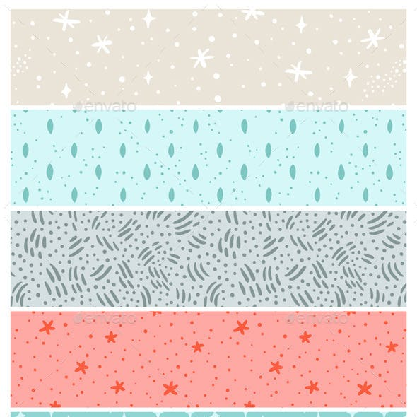 Stardust and Abstract Seamless Patterns Collection