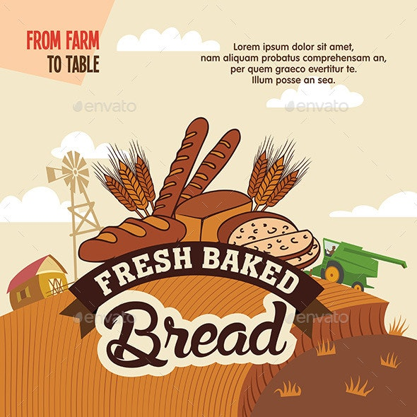 Fresh Baked Bread from Farm to Table - Food Objects