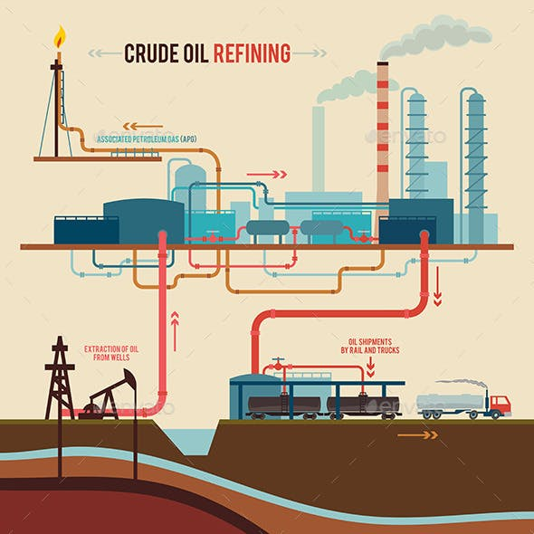 Illustration of a Crude Oil Refining