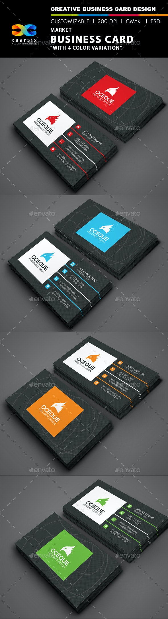 Market Business Card - Corporate Business Cards