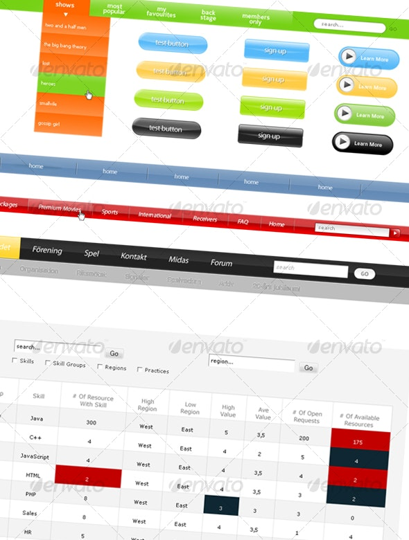 Ultimate WebDesign Resource Pack - Miscellaneous Web Elements