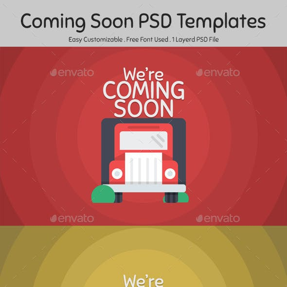 Coming Soon PSD Templates