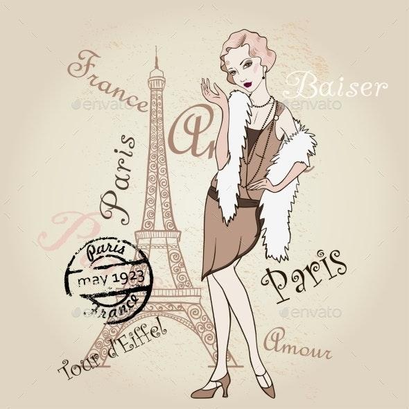 Vector Retro Paris - Decorative Symbols Decorative