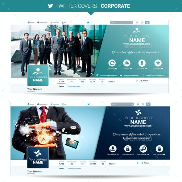 Twitter Covers - Corporate