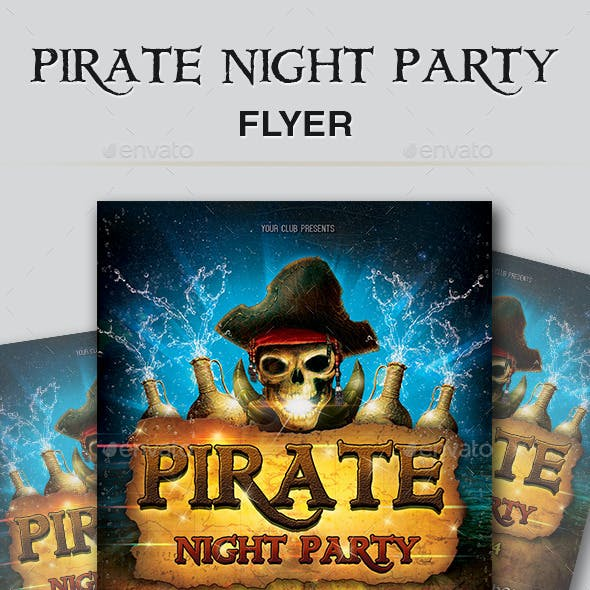 Pirate Night Party Flyer