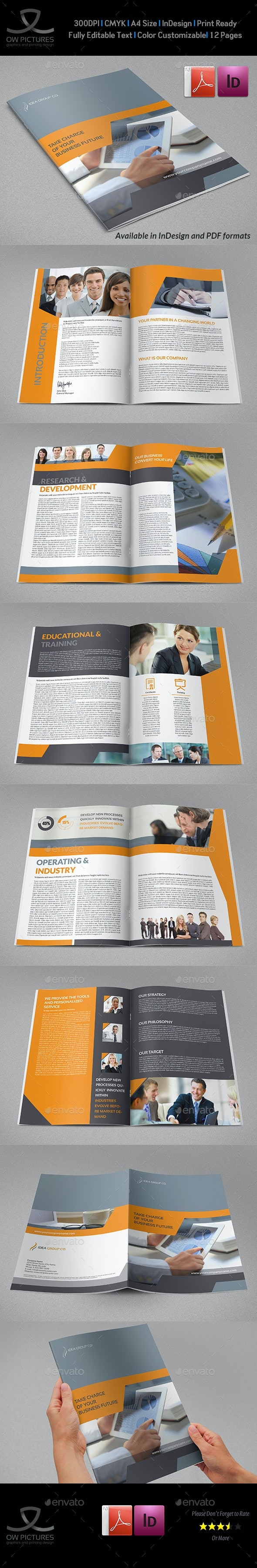 Corporate Brochure Template Vol.39 -12 Pages - Corporate Brochures