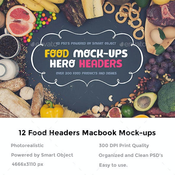Food Hero Headers Macbook Mock-ups
