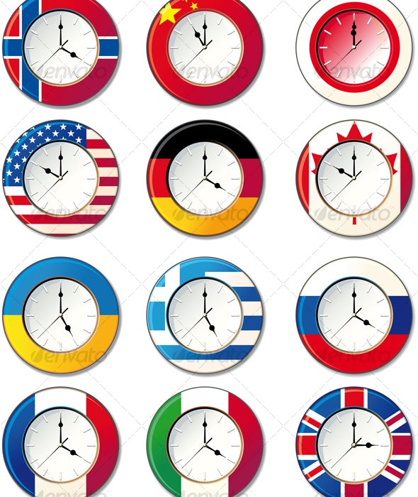 Watch, at which the flags - Man-made Objects Objects