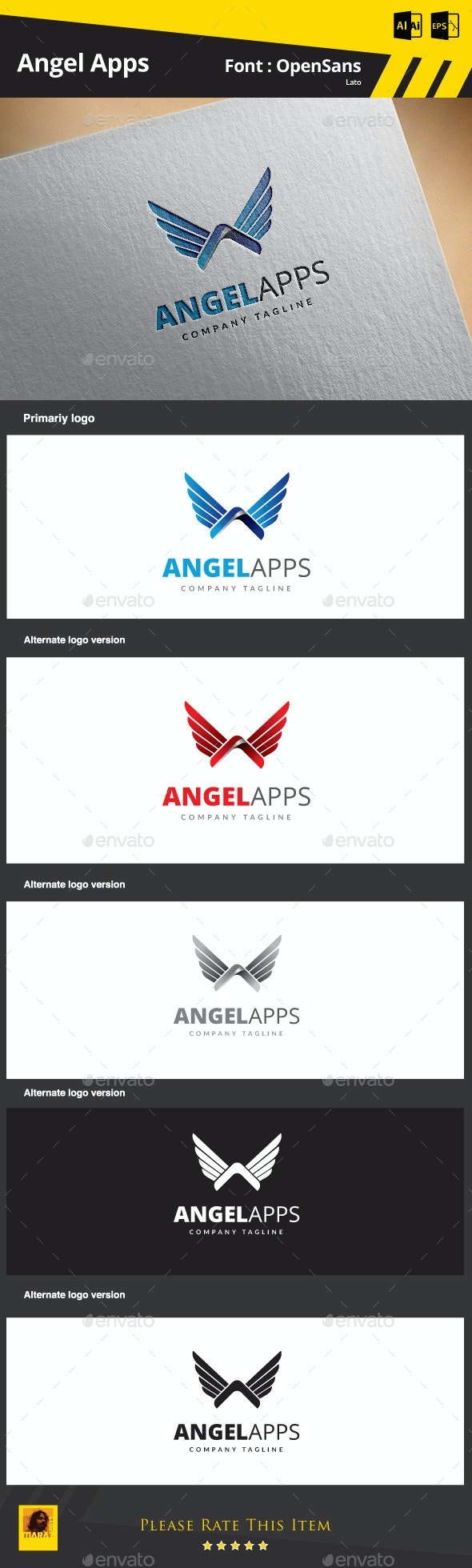 Angel Apps - Letters Logo Templates