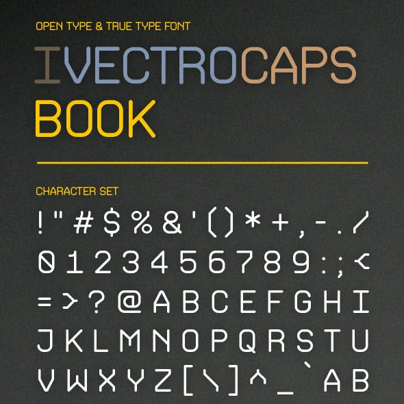 iVectroCaps Book Font