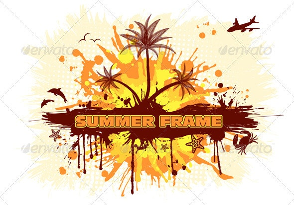 Summer frame - Seasons Nature