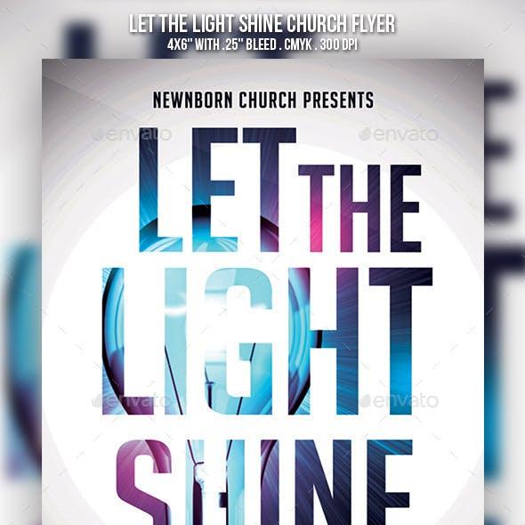Let the Light Shine Church Flyer