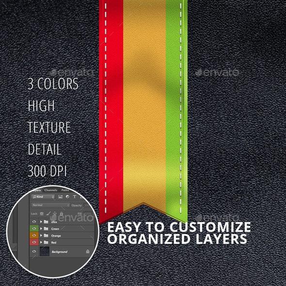 Ribbon 3 Colors - Decorative Symbols Decorative