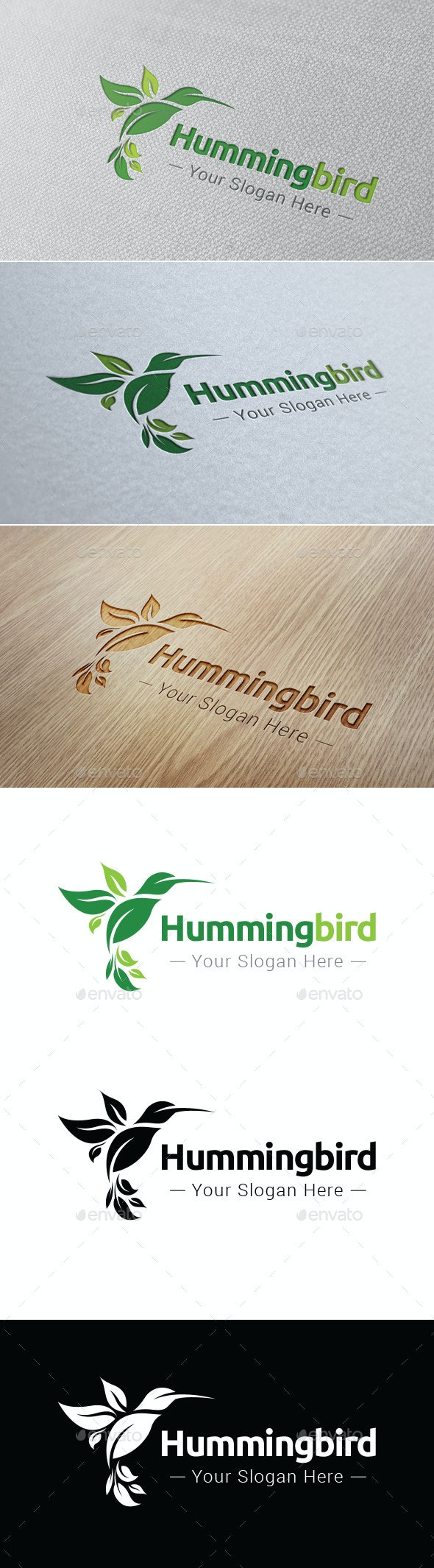 Hummingbird Logo Template - Nature Logo Templates