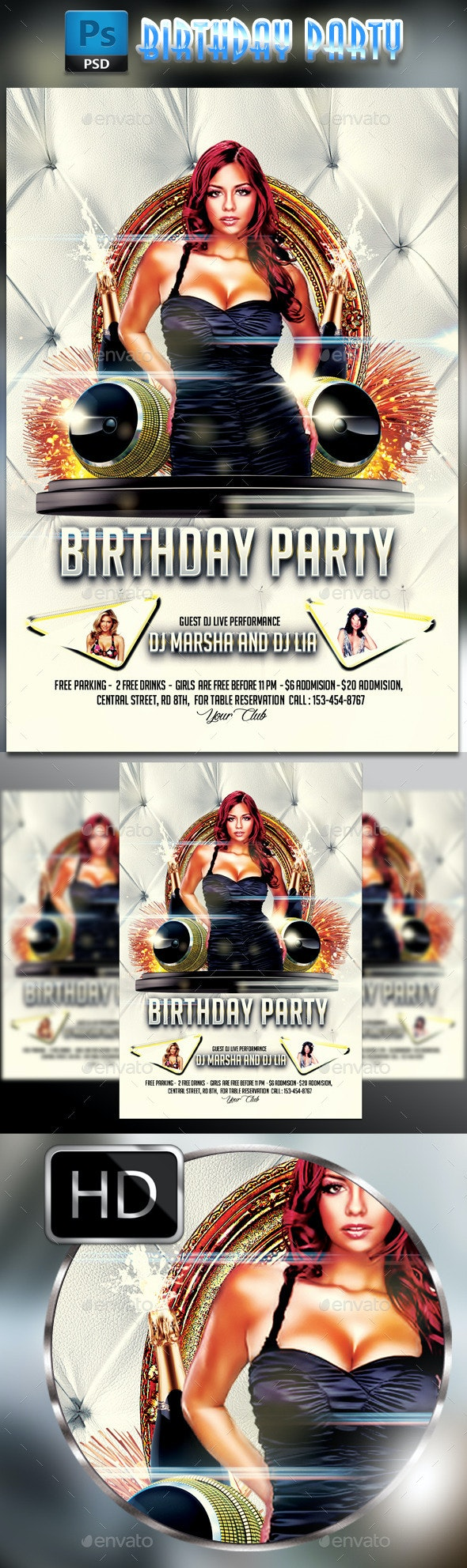 Birthday Party Flyer #2 - Clubs & Parties Events