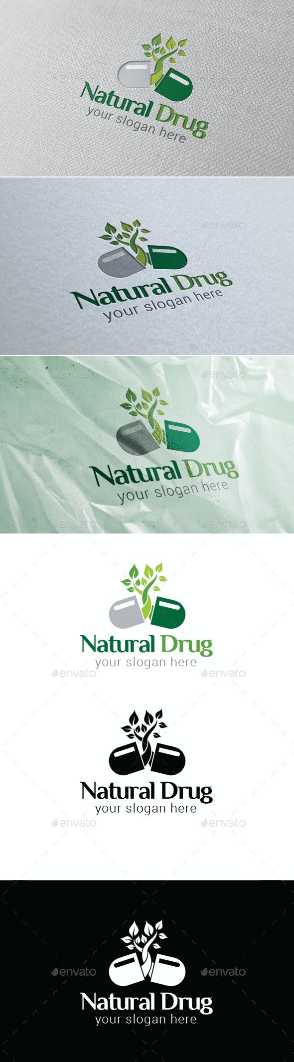 Natural Drug Logo Template - Nature Logo Templates