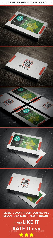 Creative GPlus Business Card - Creative Business Cards