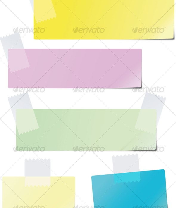 A set of colored paper - Backgrounds Decorative