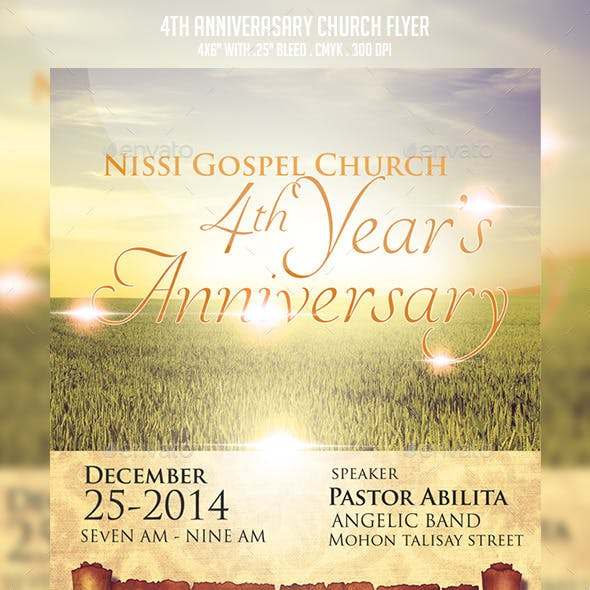 The Anniversary Church Flyer Template
