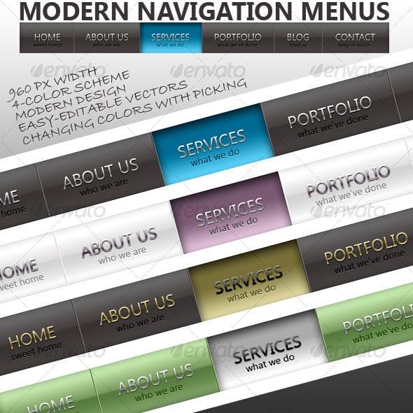 Modern Navigation Menus