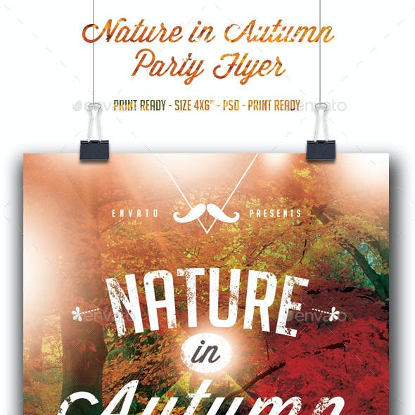Nature in Autumn Flyer Template