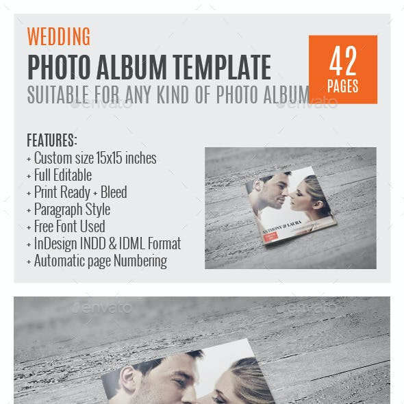 Wedding Square PhotoAlbum Template 0009
