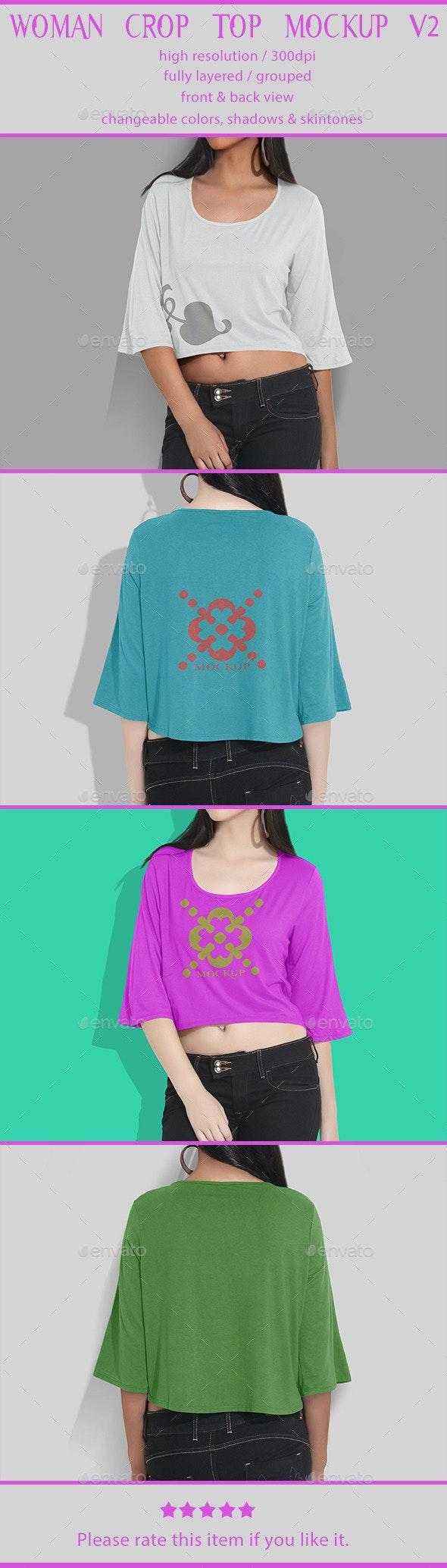 Woman Crop Top Mockup V2 - T-shirts Apparel