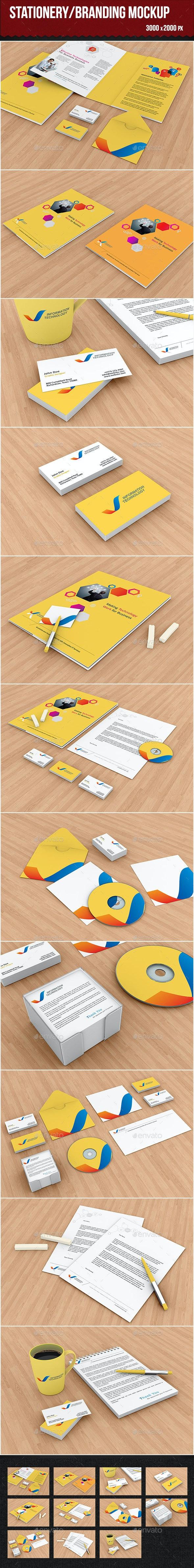Stationery/Branding Mockup - Product Mock-Ups Graphics