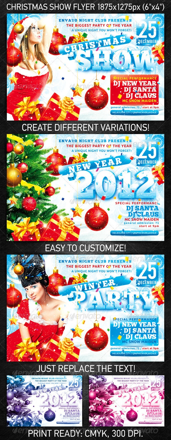 Christmas Show Flyer - Clubs & Parties Events