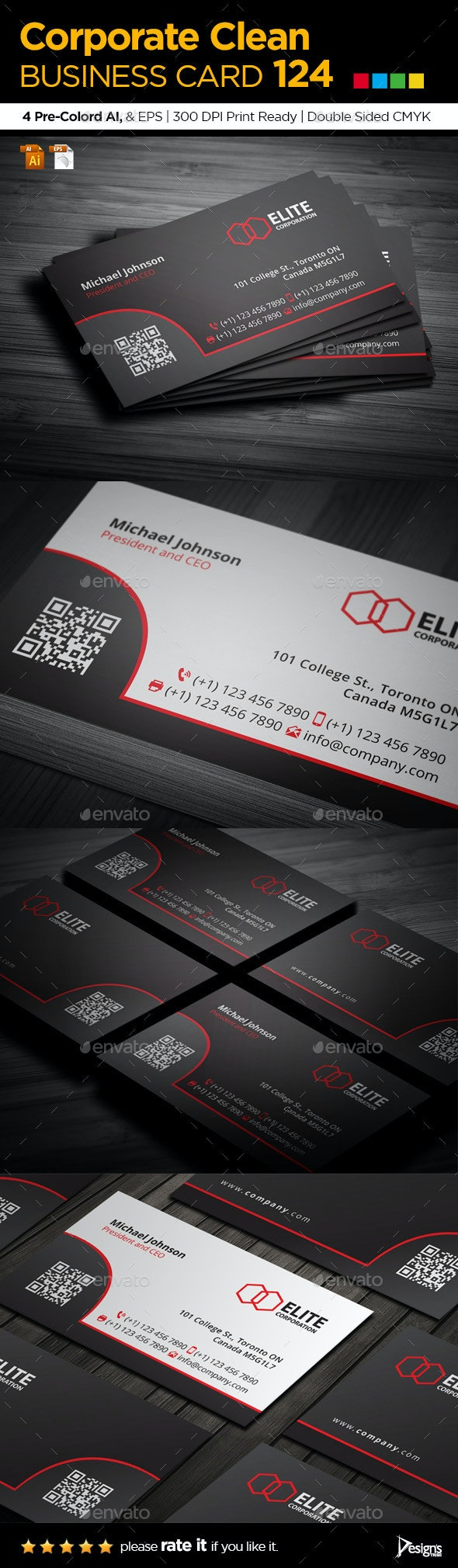 Simple and Clean Business Card 124 - Corporate Business Cards