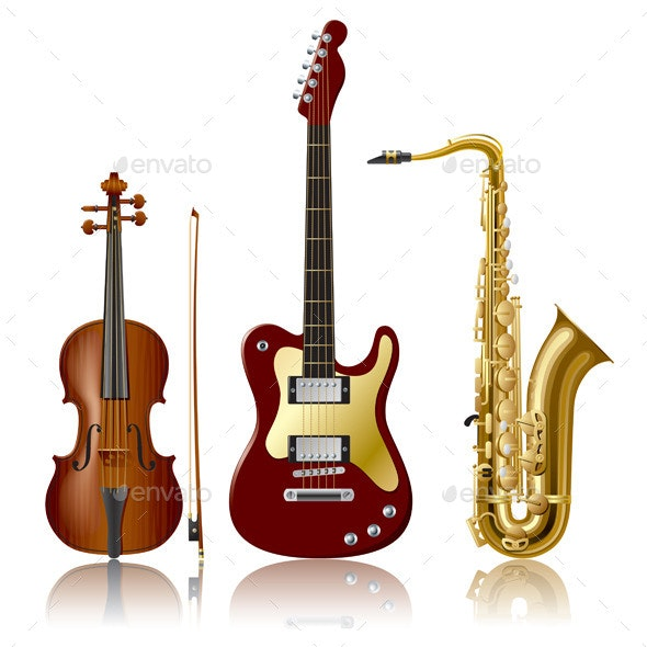 Musical Instruments - Objects Vectors