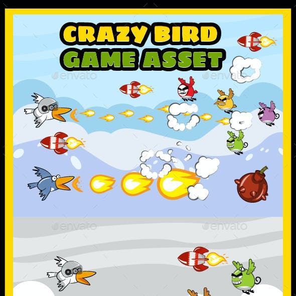 Crazy Birds Game UI Kit