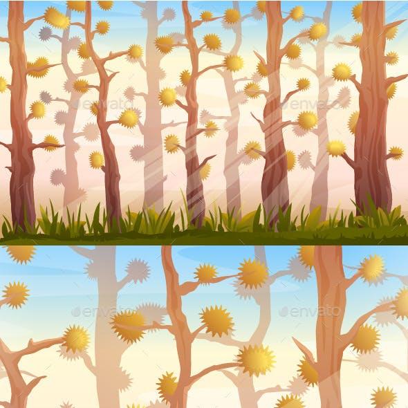 Cartoon Forest Background Landscape