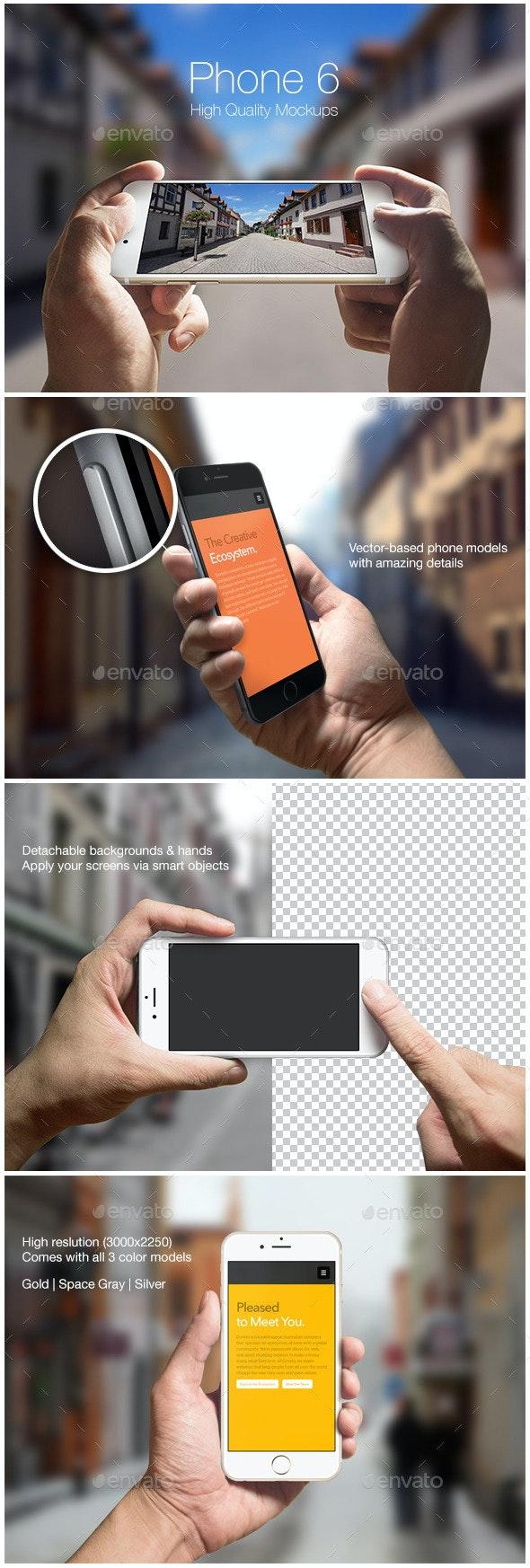 Phone 6 Mockups - Mobile Displays