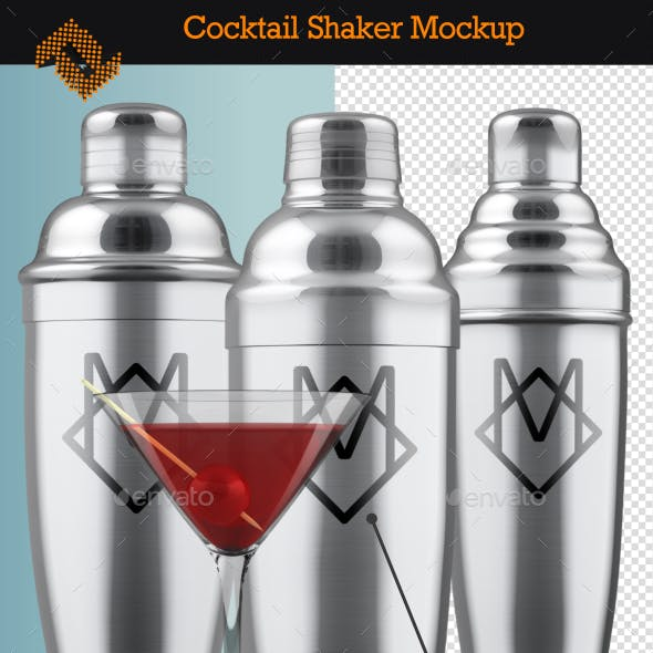 Cocktail Shaker Mockup